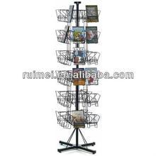 6-tier Wire DVDs CDs Floor Spinner