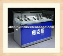 hot sell retail shop wooden cell phone display showcase/mobile phone display cabinet