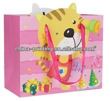 Hot-sale animal printing shopping pink paper bag
