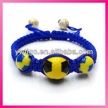 Handmade cheap football team bracelet