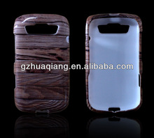Wood case for blackberry wood phone cases blackberry 9790 high quality plastic cover water printing waterproof china wholesaler