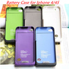 2000mAh External Charger Backup Battery Power Bank Case Cover For iPhone 4 4G 4S