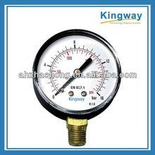 4''(100mm) lower mount brass bourdon tube pressure gauge for steam media