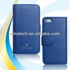 High grade case for iphone 5s phone wallet style with smart cleaning cloth inside