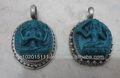 tibetanos feitos à mão de moda étnica pendentes tara verde