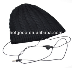 High quality plush Ear muffs with Earphone made in CHINA