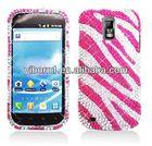 Pink ZEBRA Diamond RHINESTONE Cover for T-Mobile Samsung GALAXY S 2 II T989 Case