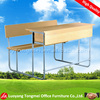 metal frame wooden top school bench and table