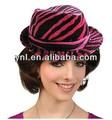 Carnaval festa acessórios/decoração cabeça fúcsia e zebra preto chapéu