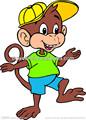 scimmia cartoon tatuaggi temporanei