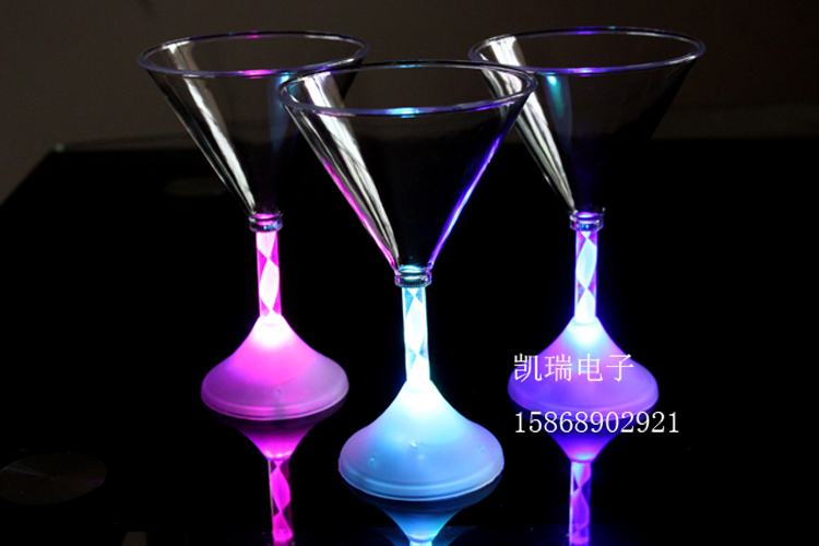 flashing LED Cocktail glass or cup party and decoration use (00390038)