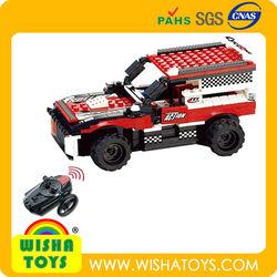 Do-it-Yourself ! Raido control Rc brick toy car Building blocks truck