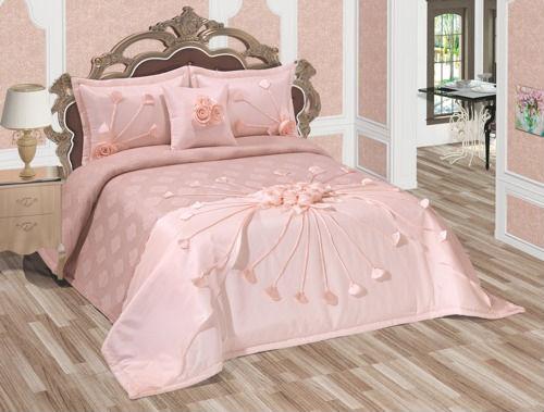 buket couvre lit set poudre rose couvre lit id du. Black Bedroom Furniture Sets. Home Design Ideas