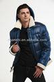 ファッションブルー2014年冬のダウンジャケットダウンコート男性用