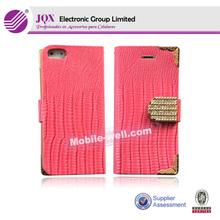 Perfect design pc pu flip case for iPhone 5C