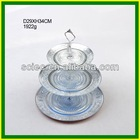 Glass 3 Tier silver electroplated fruit serving Trays