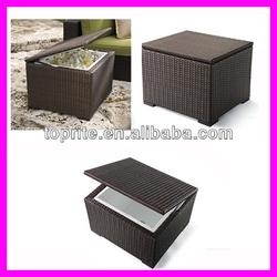 New Design Poly Rattan Refrigerated Ice Storage Box!Rattan Outdoor Ice Storage Box/Rattan Cooler Box/Dry Ice Storage Box