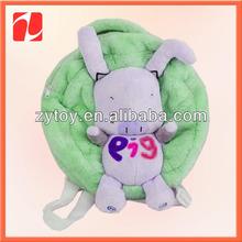 School supply plush pig backpack in China shenzhen OEM