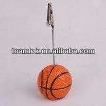 Basketball Shape Plastic Base Memo Clip Holder,plastic notes folders