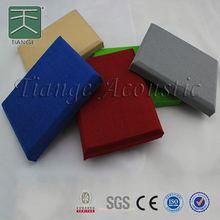 cinema wall fabric panel fiberglass ceiling/glasswool ceiling - square edge 595*595