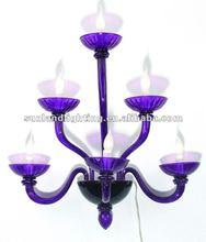 Modern Murano glass wall lamp SL8028-3+2+1 purple