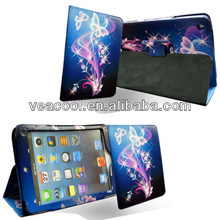 "Blue Butterfly Flip Leather Case Cover For iPad Mini 7""tablet"