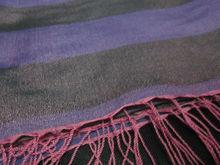 Trendy striped water pashmina shawl