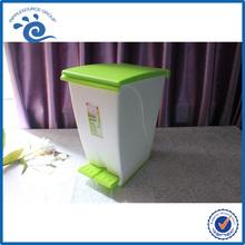 PP Plastic Cute Little Penguin Dustbin Waste Basket With Foot Pedal