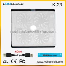 Brand New Laptop 4 Fans Cooling Pad avec 4 ports USB Hub laptop cooling plate