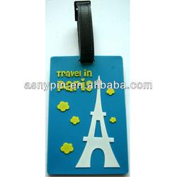 Travel in Paris Eiffel Tower Baggage Luggage Name Tag Bag ID Tag