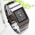 Gets.com black stainless steel watch