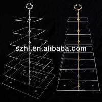7 tier square acrylic cupcake cake stand rack 7-tier square acrylic cupcake stand