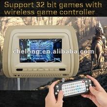 JK Hot Sell car headrest monitor FM Transmitter touch screen car headrest detachable dvd players