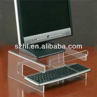 Clear acrylic keyboard stand display