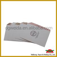 C4 white envelopes with printed logo