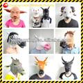ユニコーン馬パンダフクロウの動物の頭部のマスク不気味なシアター大人ハロウィン衣装