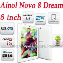 8'' Ainol NOVO 8 Dream Android 4.1.1 ATM 7029 Quad Core 1GB/16GB ROM 1.2GHz Dual Camera HDMI WIFI Tablet PC