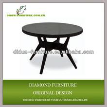 antique round aluminum picnic table