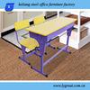 2013 factory price wooden top student desks high school furniture