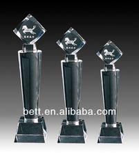 Nuevo diseño de venta al por mayor de encargo premios placas trofeos