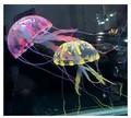 Comida para peces, decoración para acuarios, medusa de silicona