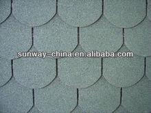 Fish-scale asphalt shingle roofing tiles
