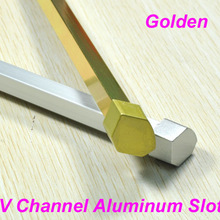 New Design Golden V Slot Al Alloy&Caps For Led Bar Light