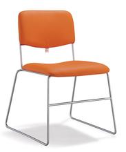 orange color steel office chair