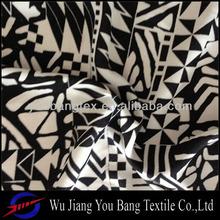 100% polyester printed floral chiffon fabric/peach skin fabric/wash velvet