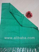 Emerald Green Solid Pashmina