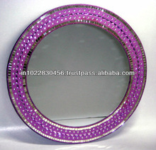 Glass Accessories & Crystal ftd Colorful Round Mirror - 35 Cm Dia.