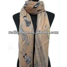 Fashion Bunny Animal Women's Scarf Shawl Wrap 180*110cm SCS038
