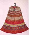 De las muchachas y para mujer de algodón impreso faldas crinckled elástico en la cintura del palo de escoba falda algodan kouten algodón faldas largas jaipur india