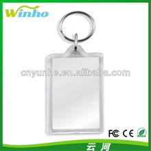 Blank Large Rectangular Acrylic Keyrings